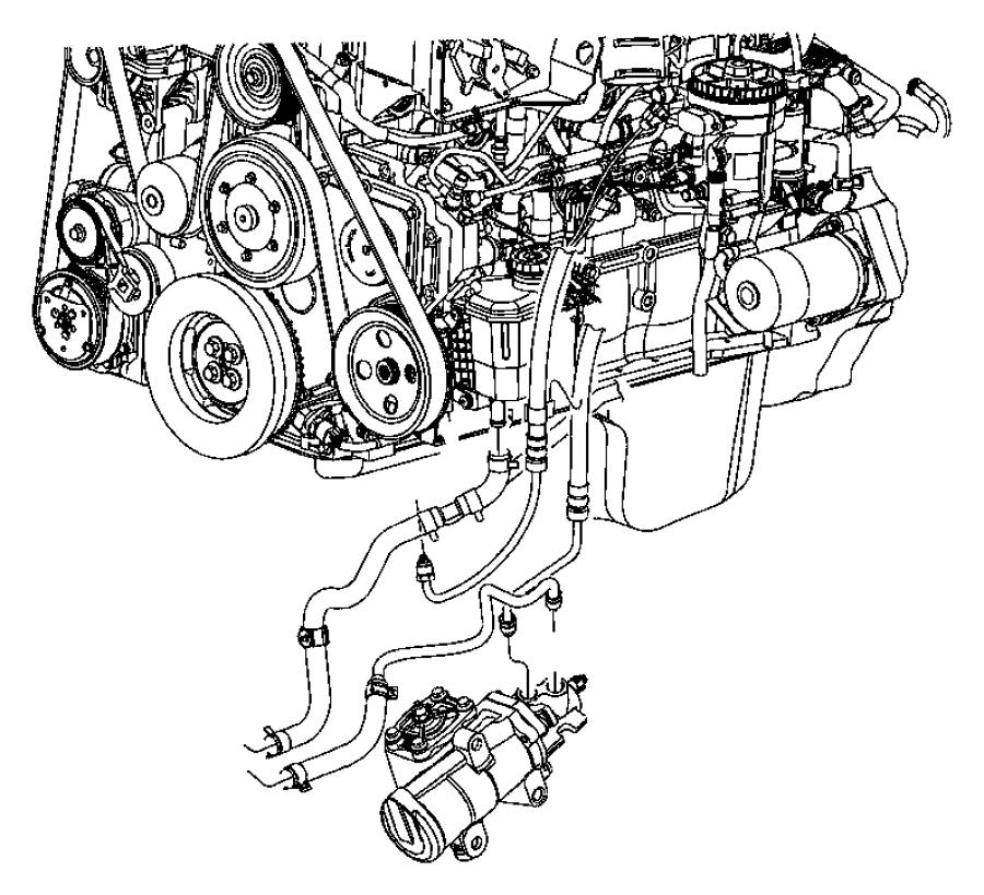 2006 Dodge Ram 2500 Hose. Power steering pressure
