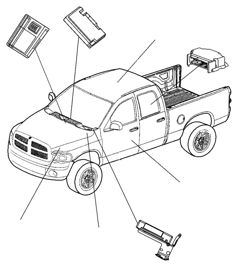 2009 Dodge Receiver. Control module. Gxmgxx, blackbluem