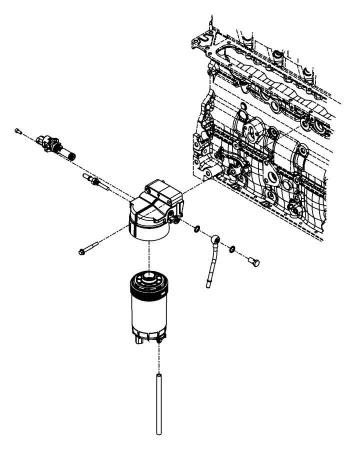Dodge Ram 2500 Connector, fuel line kit, tube. Fuel filter