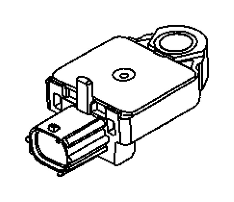 Dodge Ram 1500 Sensor. Air bag, impact. Front