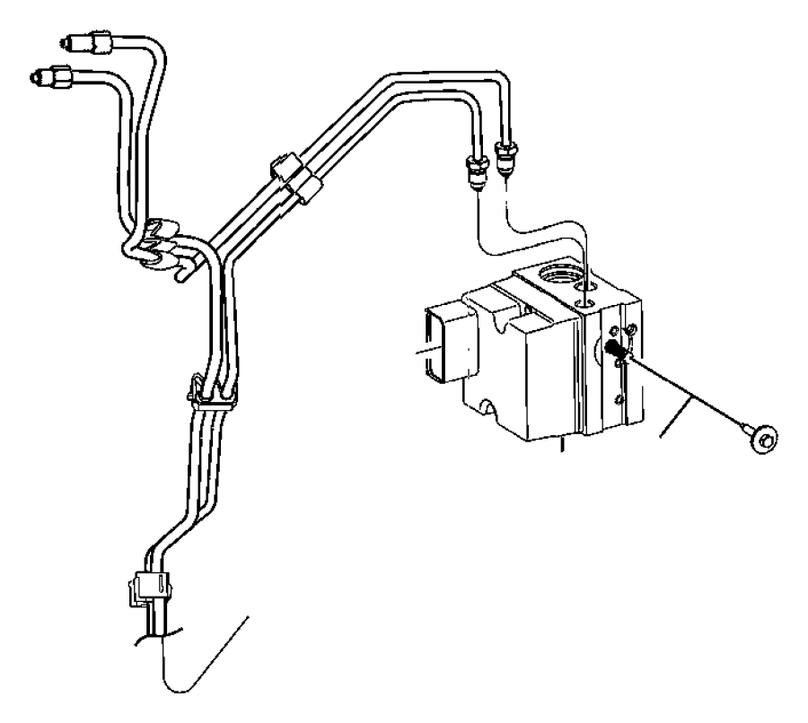 Dodge Ram 1500 Tube. Brake, brake rwal to junction block