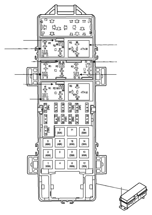 Chrysler Grand Voyager Fuse, fuse cartridge. J case. 60