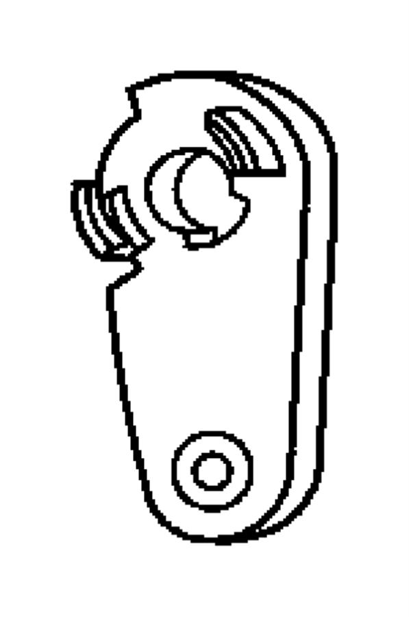 2009 Jeep Wrangler Lever. Door lock cylinder, lock