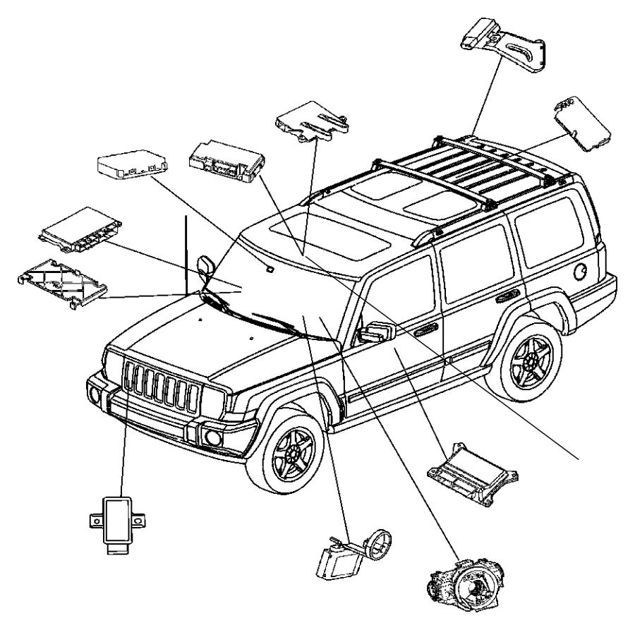 Jeep Commander Module. Steering control. Wipersfog