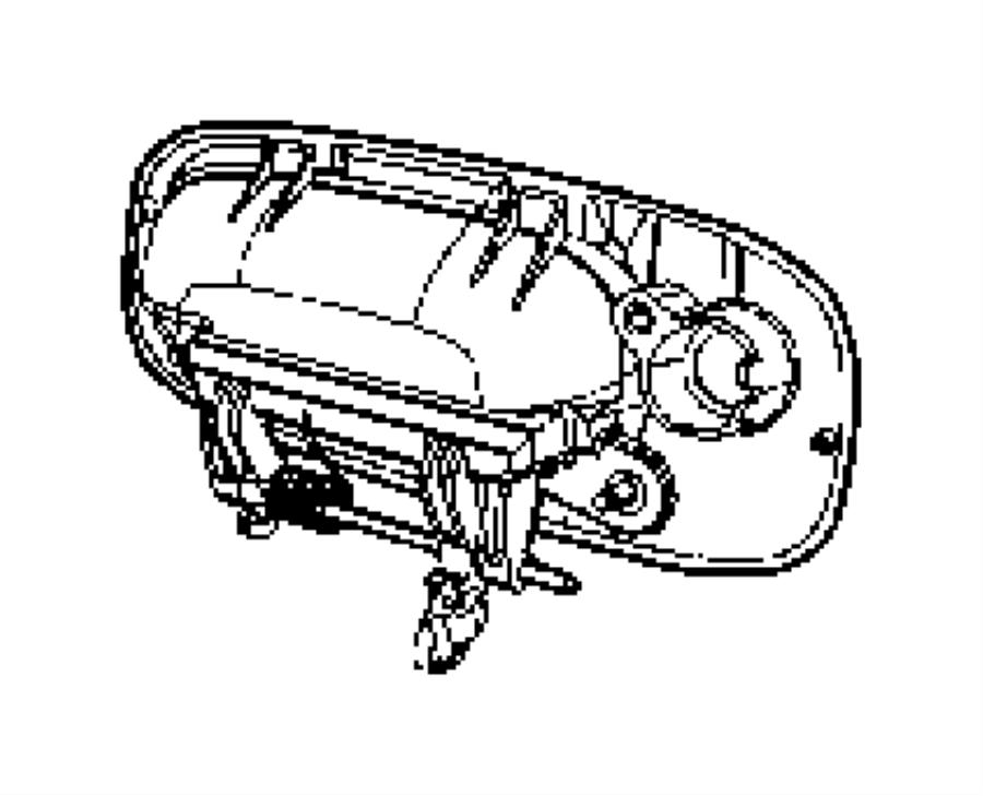 Dodge Charger Handle. Exterior door. Left. Color: [no