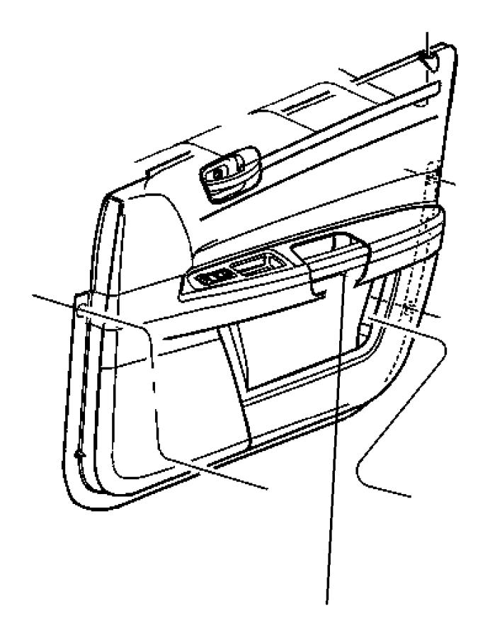 Chrysler 300 Bezel. Switch. Drivers side, passenger side