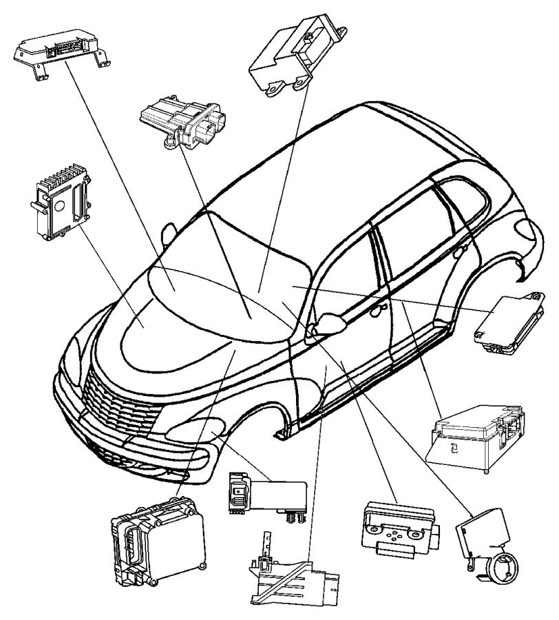 Chrysler Pt Cruiser Module. Telematics. After 1/15/07