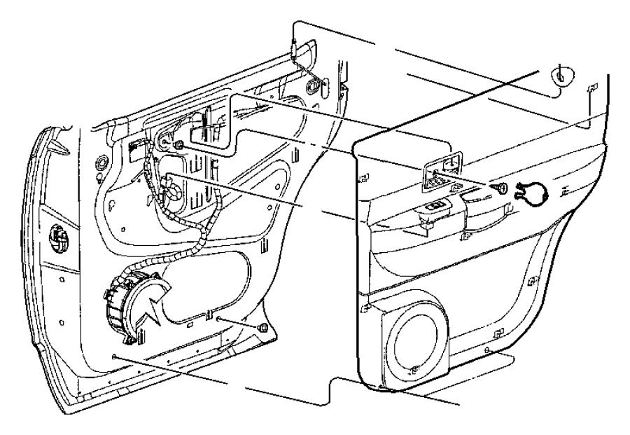 Dodge Durango Panel. Rear door trim. Left. [db] with