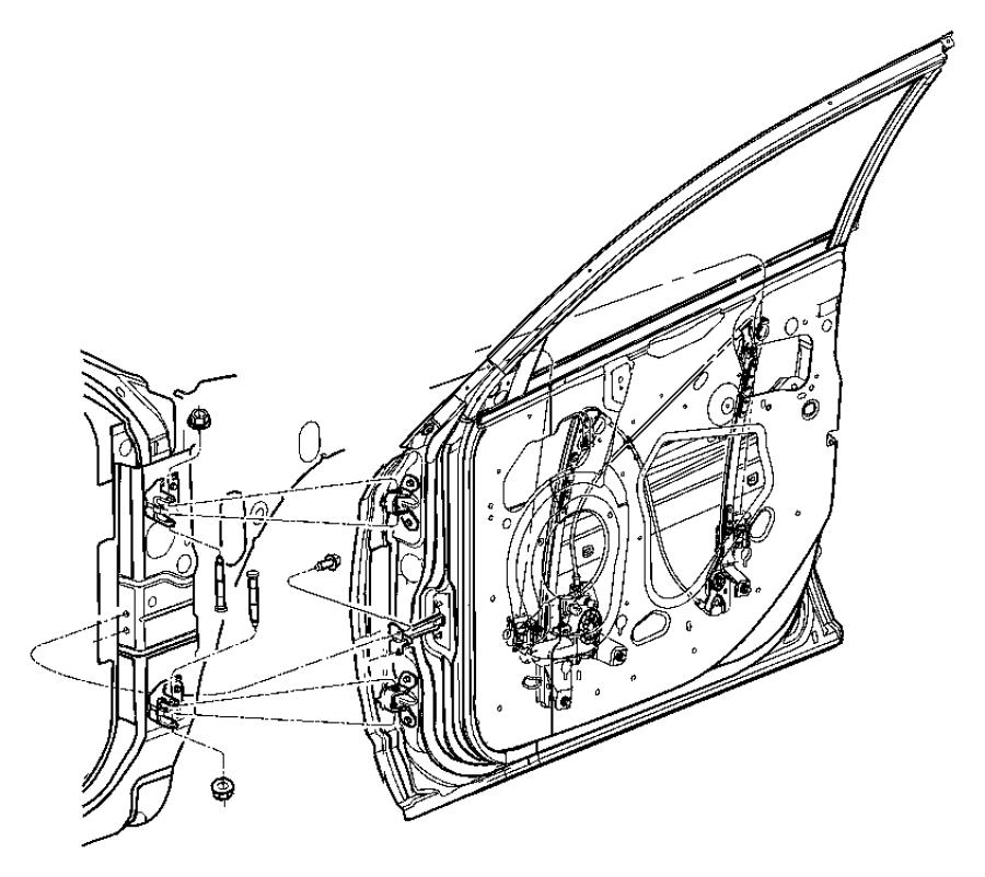 Chrysler Pacifica Regulator. Front door window. Left