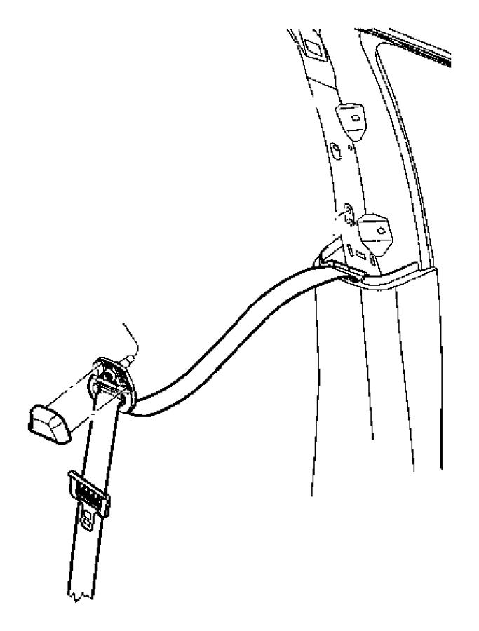 Chrysler Aspen Seat belt. Front outer. Left. [db]. Trim