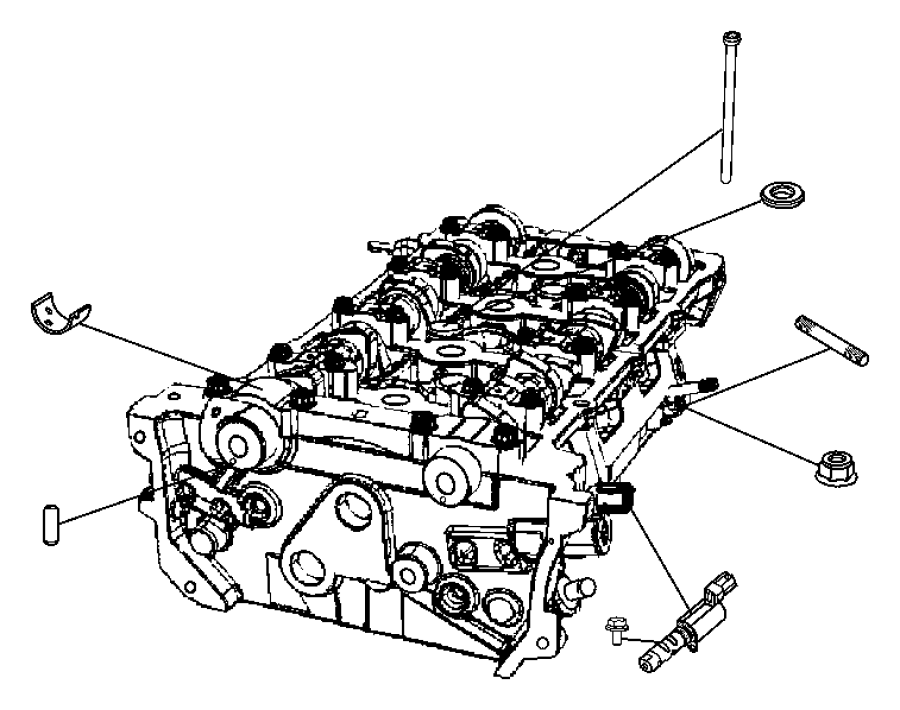Dodge Caliber Washer. Mounting. Cyilinder head to engine