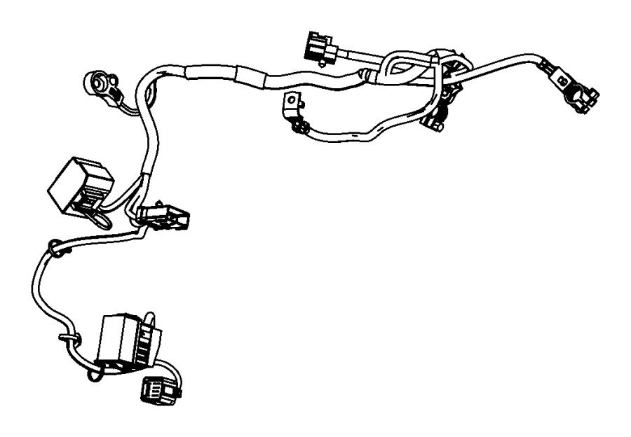 2007 Chrysler Sebring Wiring. Battery. Jump, post