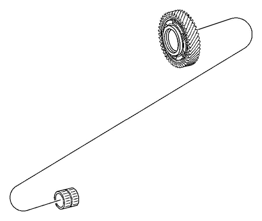 Chrysler Crossfire Gear. Reverse, reverse idler. Reverse