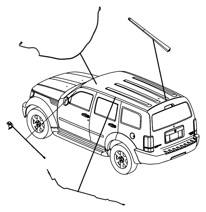 2008 Chrysler 300 Mast. Antenna. [fixed long mast antenna