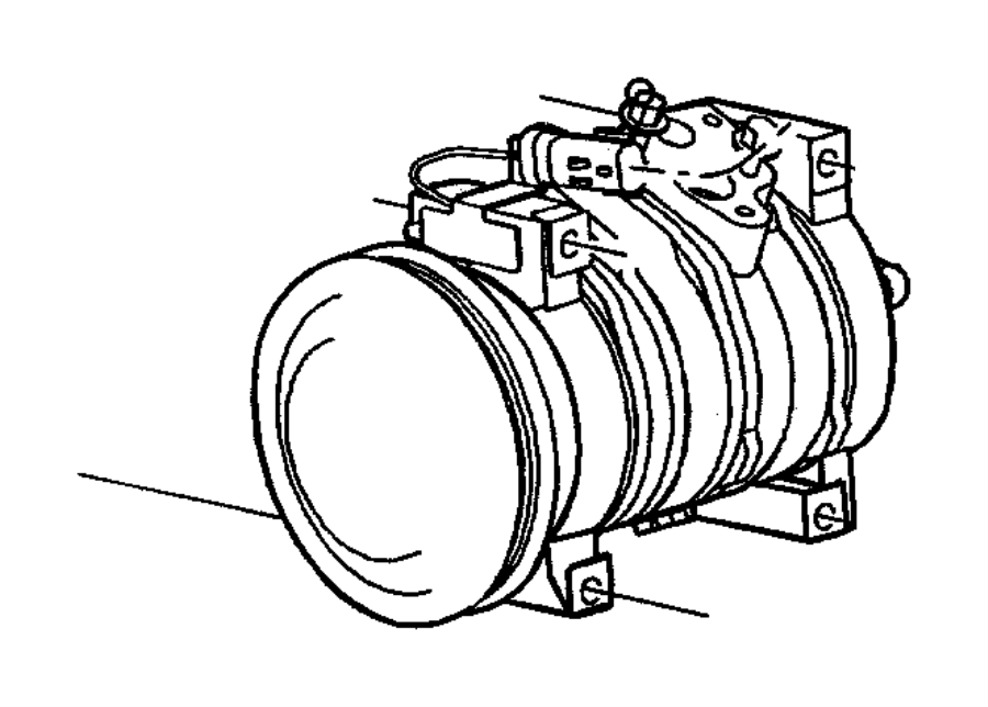 Chrysler Pt Cruiser Compressor. Air conditioning. Manual