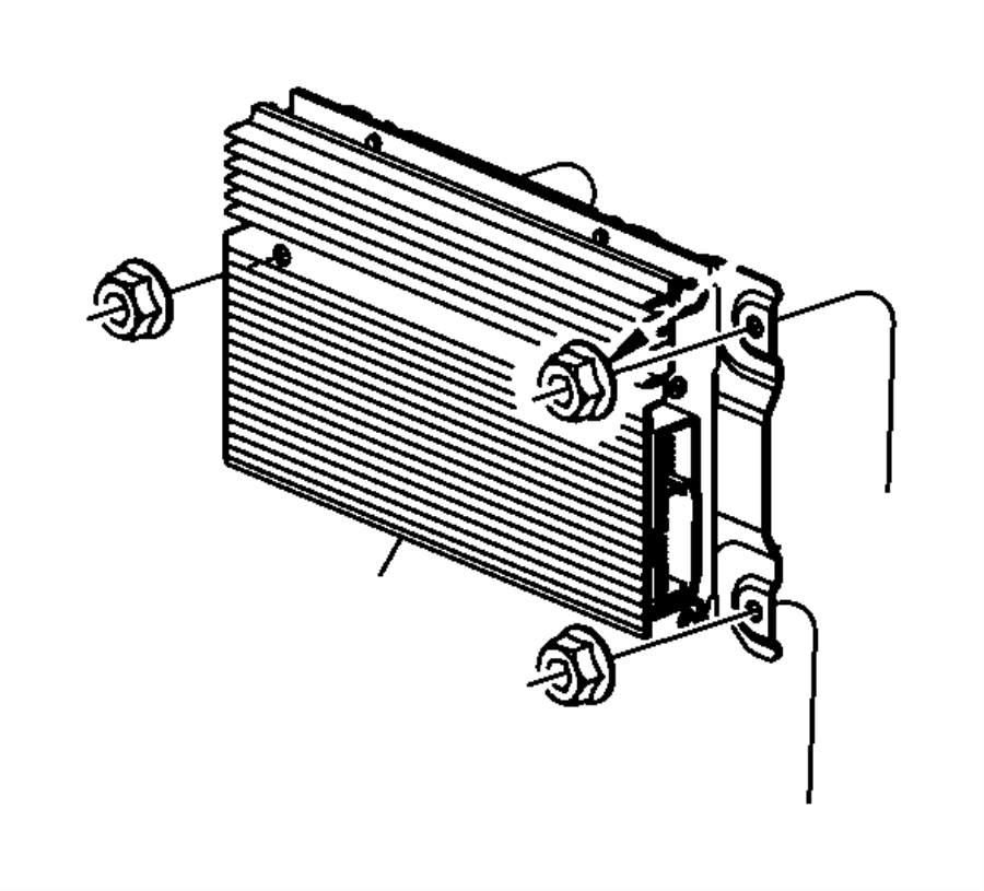 Dodge Nitro Amplifier. Radio. [8 infinity speakers w
