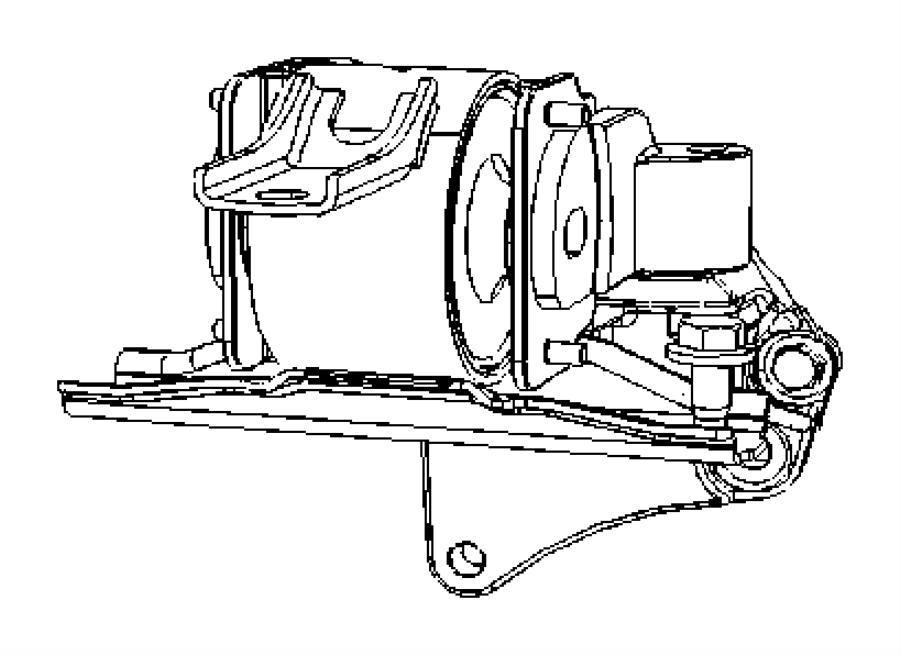 Jeep Compass Bracket, bracket package. Engine mount