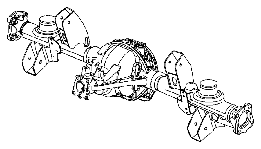 Jeep Grand Cherokee Axle assembly. Rear complete
