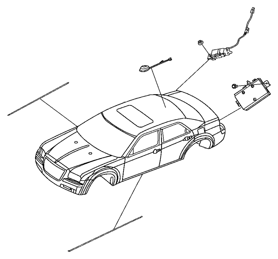 Dodge Charger Module. Radio antenna. [integrated in rear