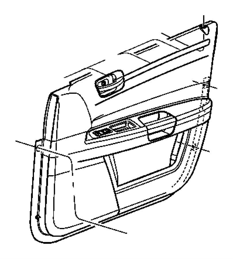 Chrysler 300 Panel. Front door trim. Left. [d1], [d1