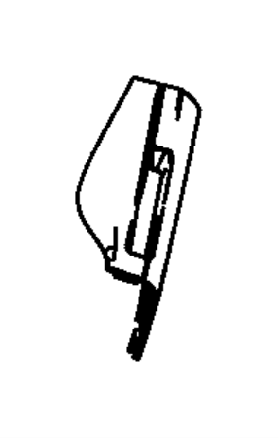 Dodge Avenger Shield. Seat cushion. Inboard. [db]. Trim