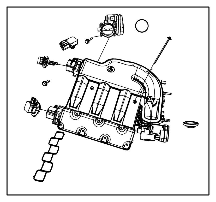 Dodge Journey Actuator. Intake short running valve