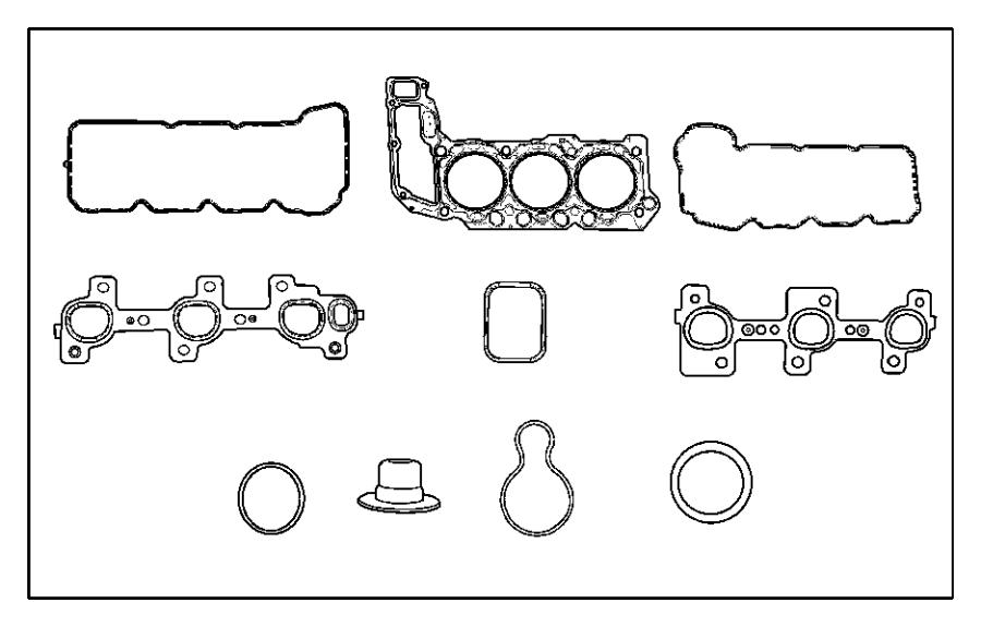 Dodge Nitro Gasket kit, gasket package. Engine, engine