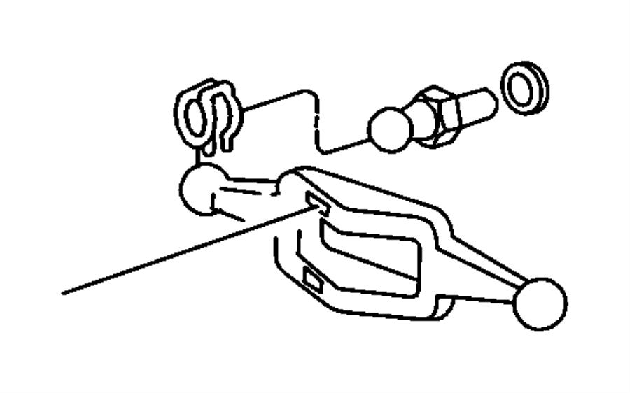 2010 Jeep Wrangler Fork, lever. Clutch release