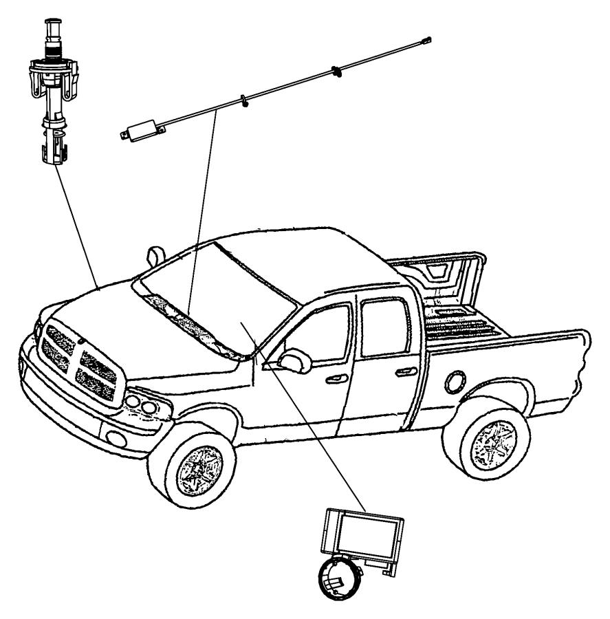 2007 Dodge Receiver. Control module. Xbmgxrgxx