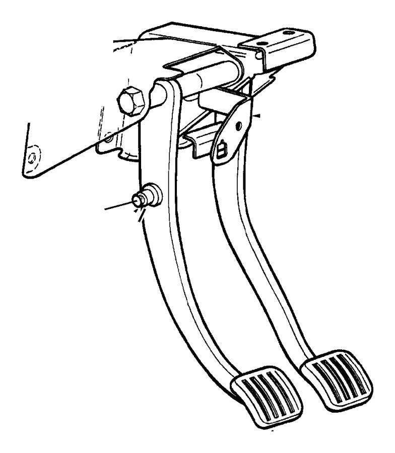 1990 Jeep Pad. Brake, left, mounting. Pedal. Pedalbrake