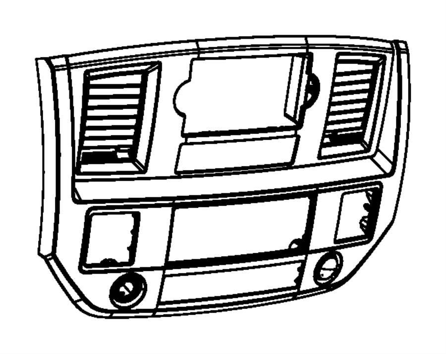 Dodge Ram 3500 Bezel. Instrument panel. Center. Trim: [all