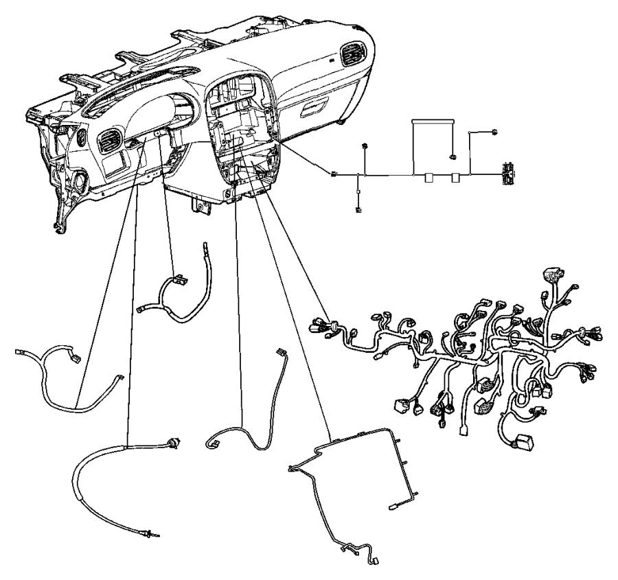 Dodge Grand Caravan Wiring. Instrument panel. [[atc w/3