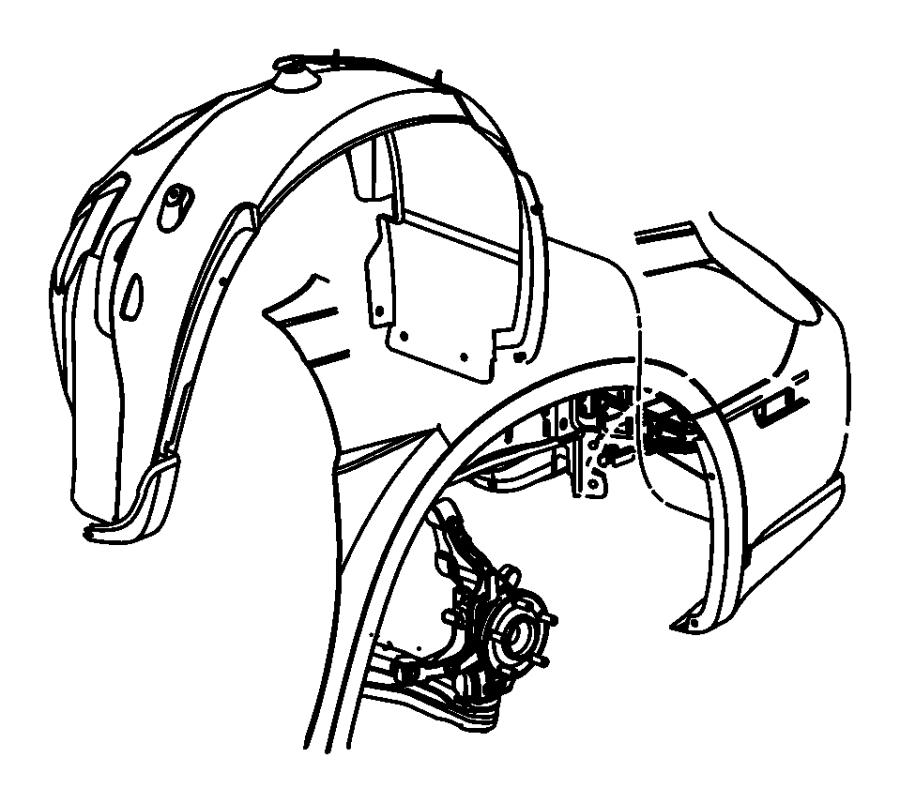 2001 Chrysler Sebring Nut. Plastic snap-in. Front. Shield