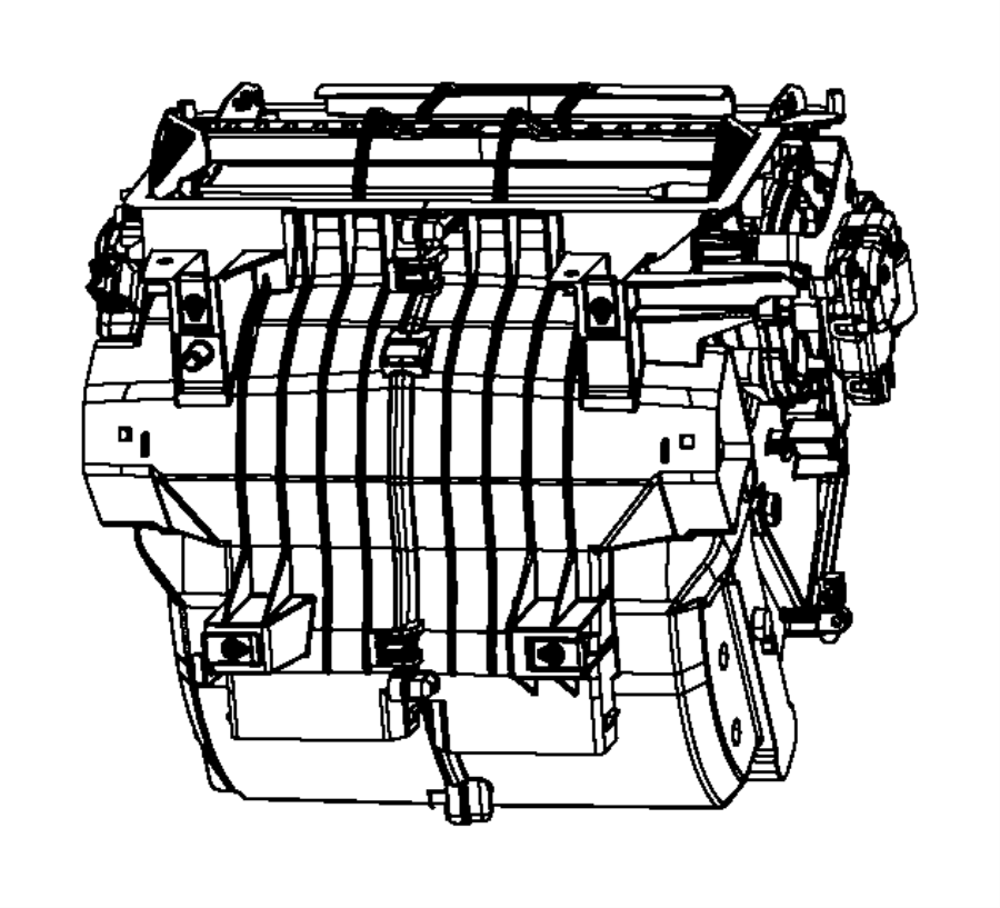 2013 Chrysler 200 Actuator. Used for: a/c and heater