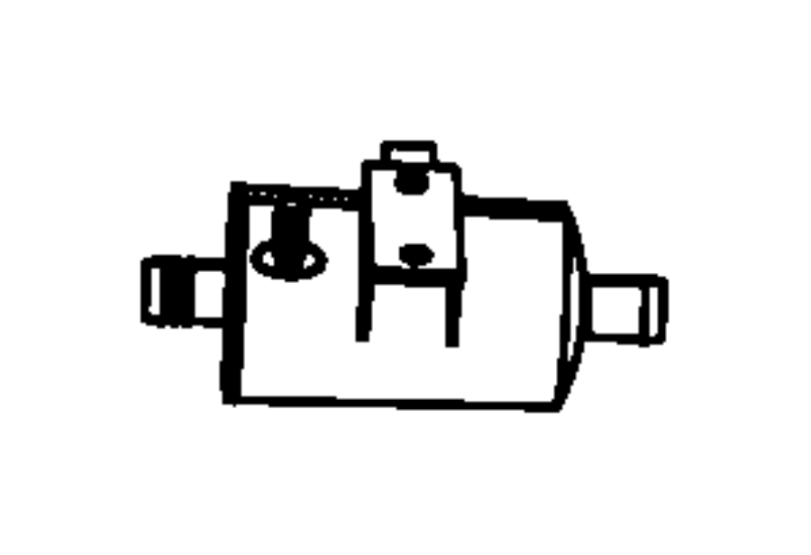 Dodge Grand Caravan Filter. Fuel vapor vent. Dectection