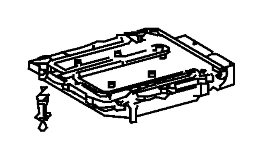 Dodge SPRINTER Ball stud, retainer. Engine control module