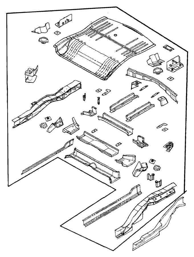 Chrysler Pacifica Reinforcement. Rear suspension. Left