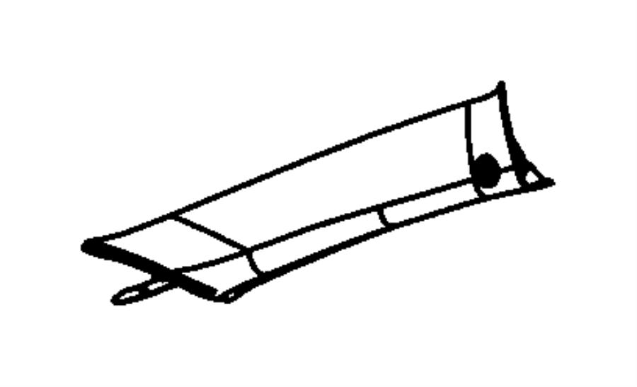 Chrysler Pacifica Molding. A pillar. Left. Trim: [all trim