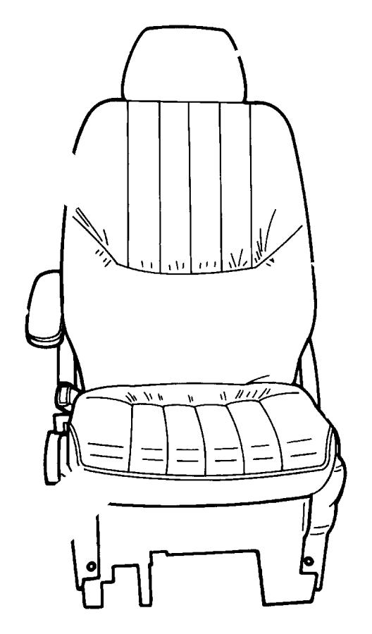 Dodge Grand Caravan Headrest. Front. [j1]. Trim: [cloth