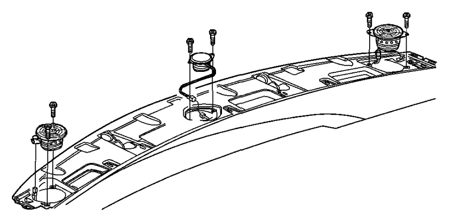 Dodge Ram 4500 Speaker. Front. 2.25. Instrument panel