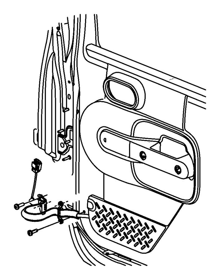 Dodge Ram 2500 Screw. Pan head. M6x1x20. [rear 60/40 split