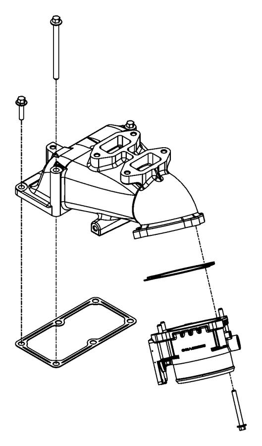 Dodge Ram 2500 Gasket. Intake plenum. Starting, aid