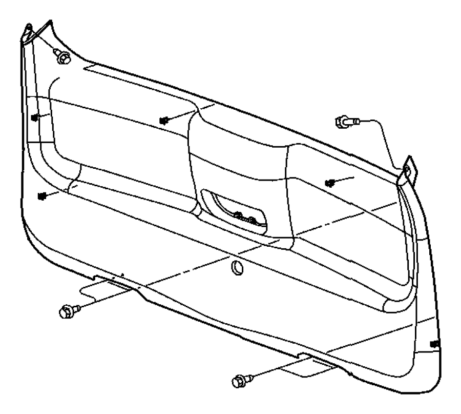 Dodge Durango Panel. Liftgate lower. [j3]. Trim: [all trim