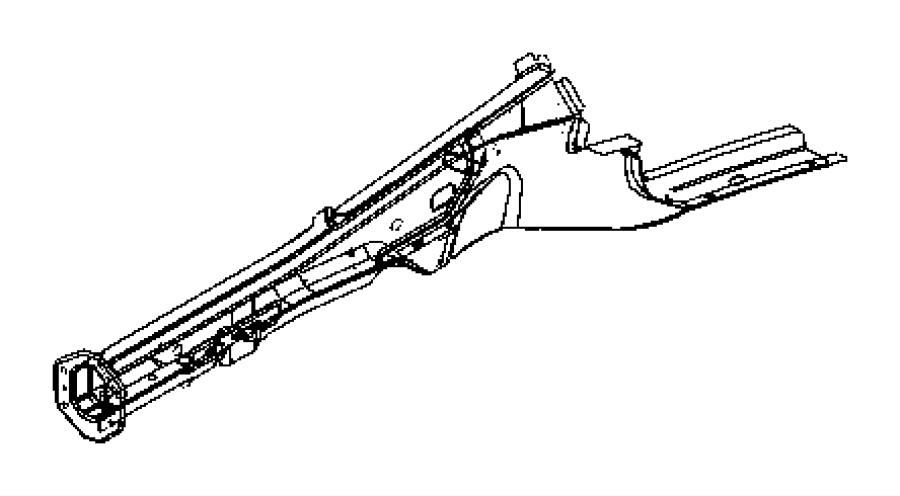 Dodge Magnum Reinforcement Front Bumper Left