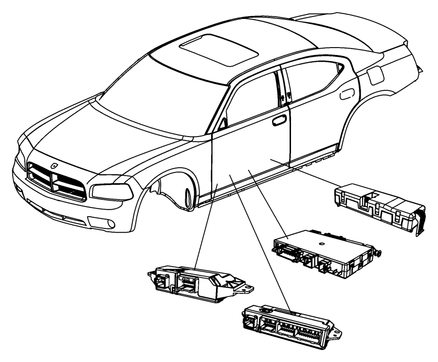 Chrysler 300 Module. Window memory. [[radio/driver seat