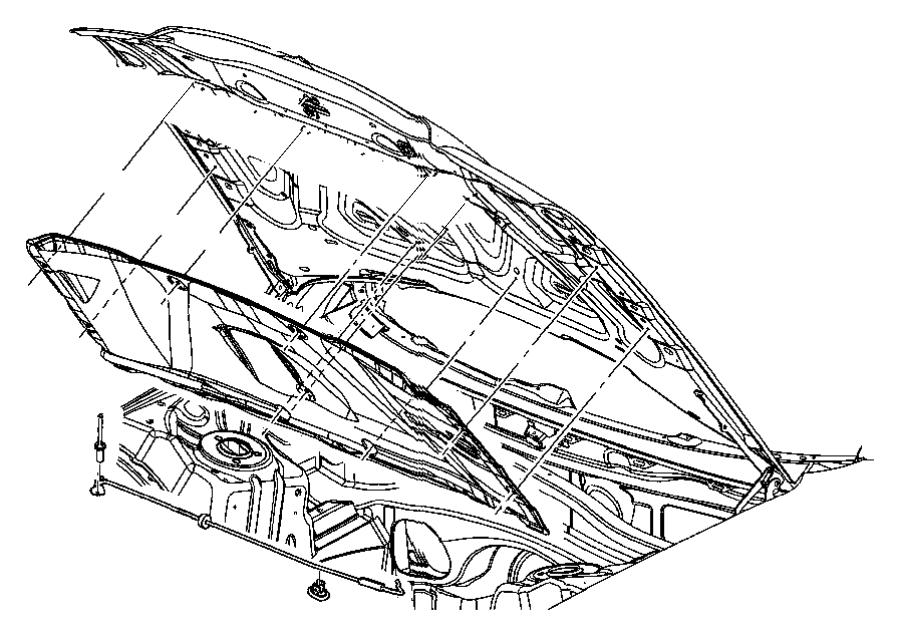 2008 Chrysler Rivet. Blind. 190x.670. Brkt, extinquisher
