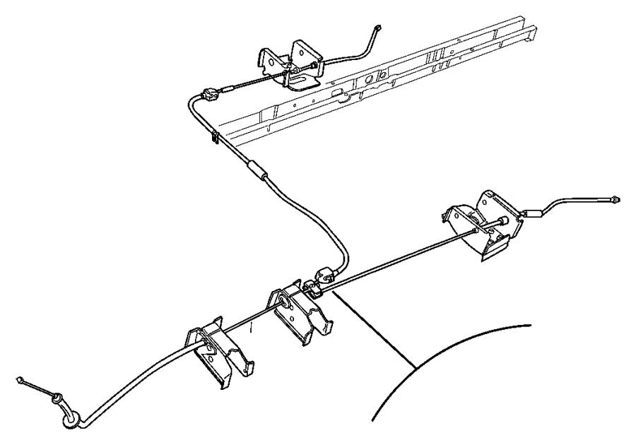 2005 Chrysler Cable. Parking brake. Front. Benchmidyear