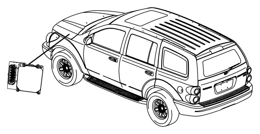 2008 Chrysler Aspen Limited 5.7L Hemi V8 4X4 Module. Anti