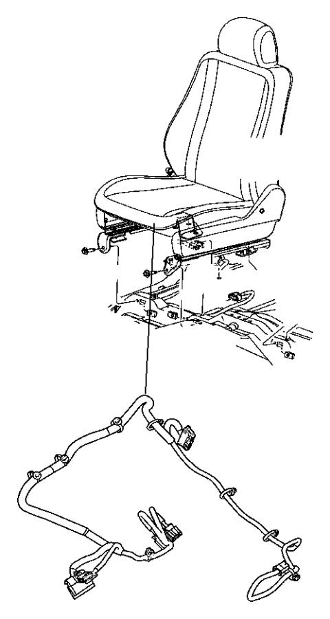 Dodge Durango Wiring. Seat. Export, right. 2 way manual, 2