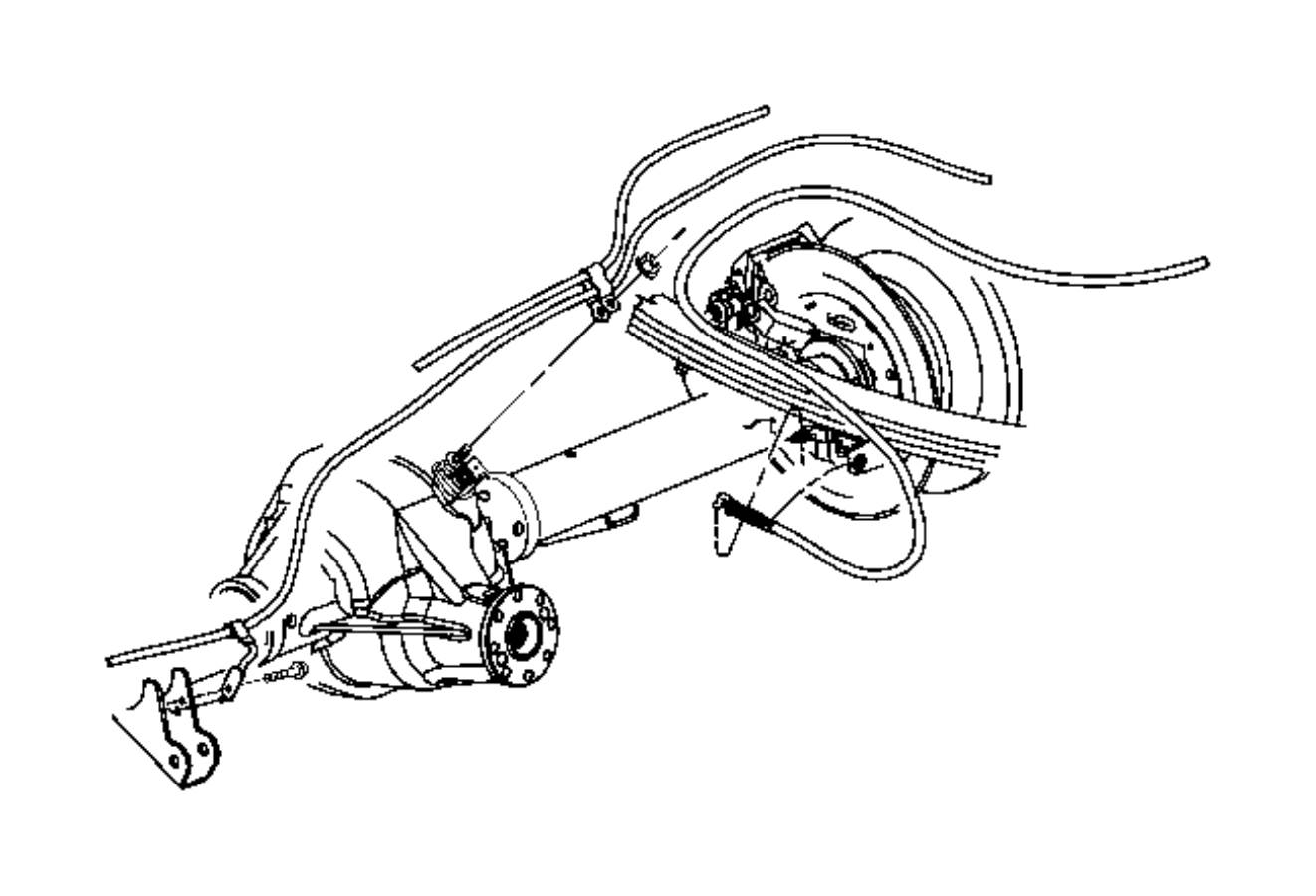 Dodge Ram Cable Parking Brake Right Rear
